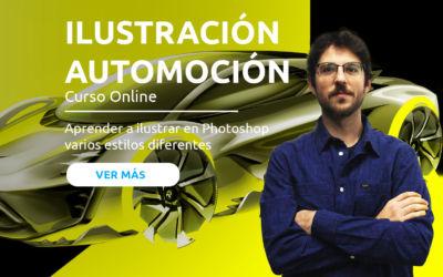Ilustración digital para Automoción
